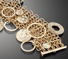 Gold Filled Discs on Chain Maille