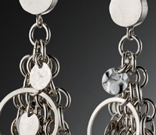 Chain Maille Earrings on Disc