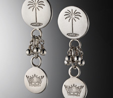 Palm and Crown Earrings